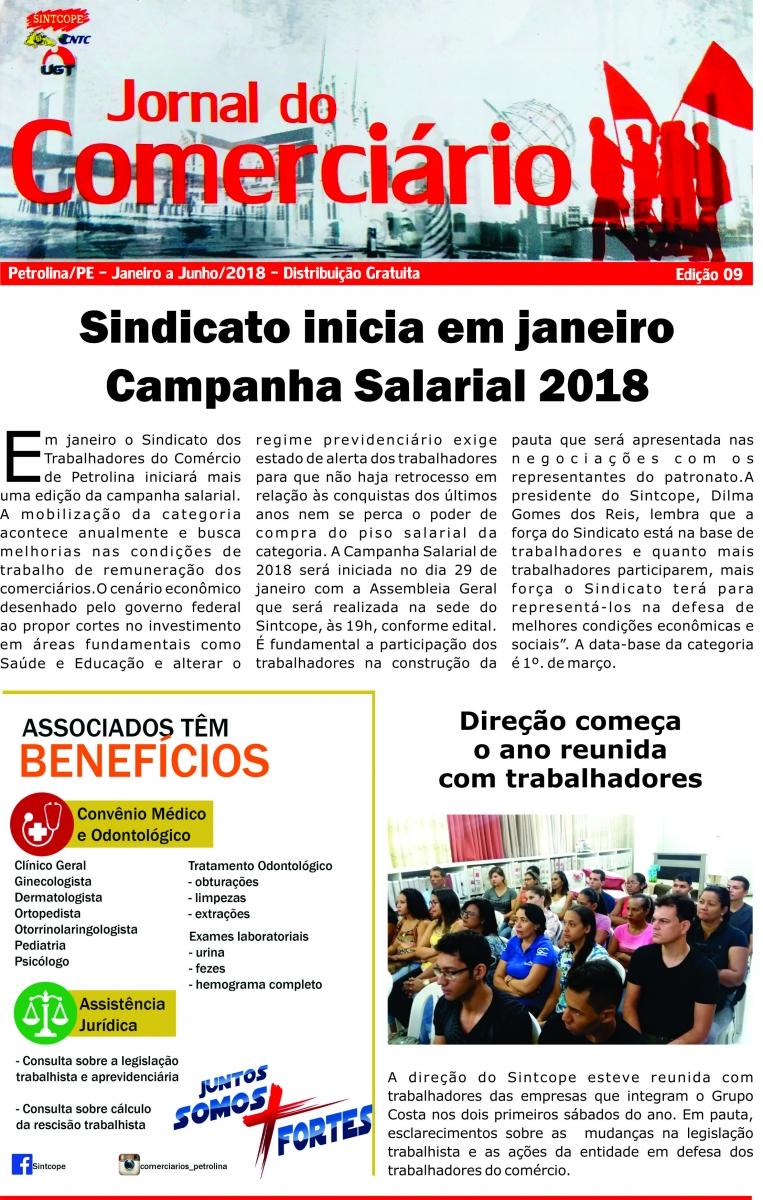 Foto do jornal Sintcope Jornal do Comerciário - no. 09