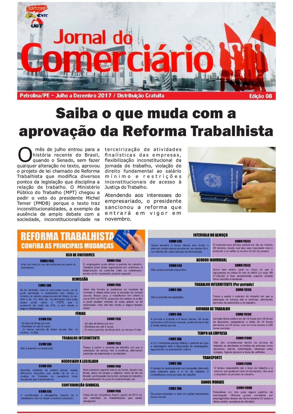 Foto do jornal Sintcope Jornal do Comerciário - Edição no. 08