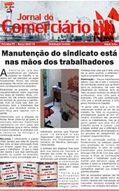 Foto do jornal Sintcope Jornal do Comerciário