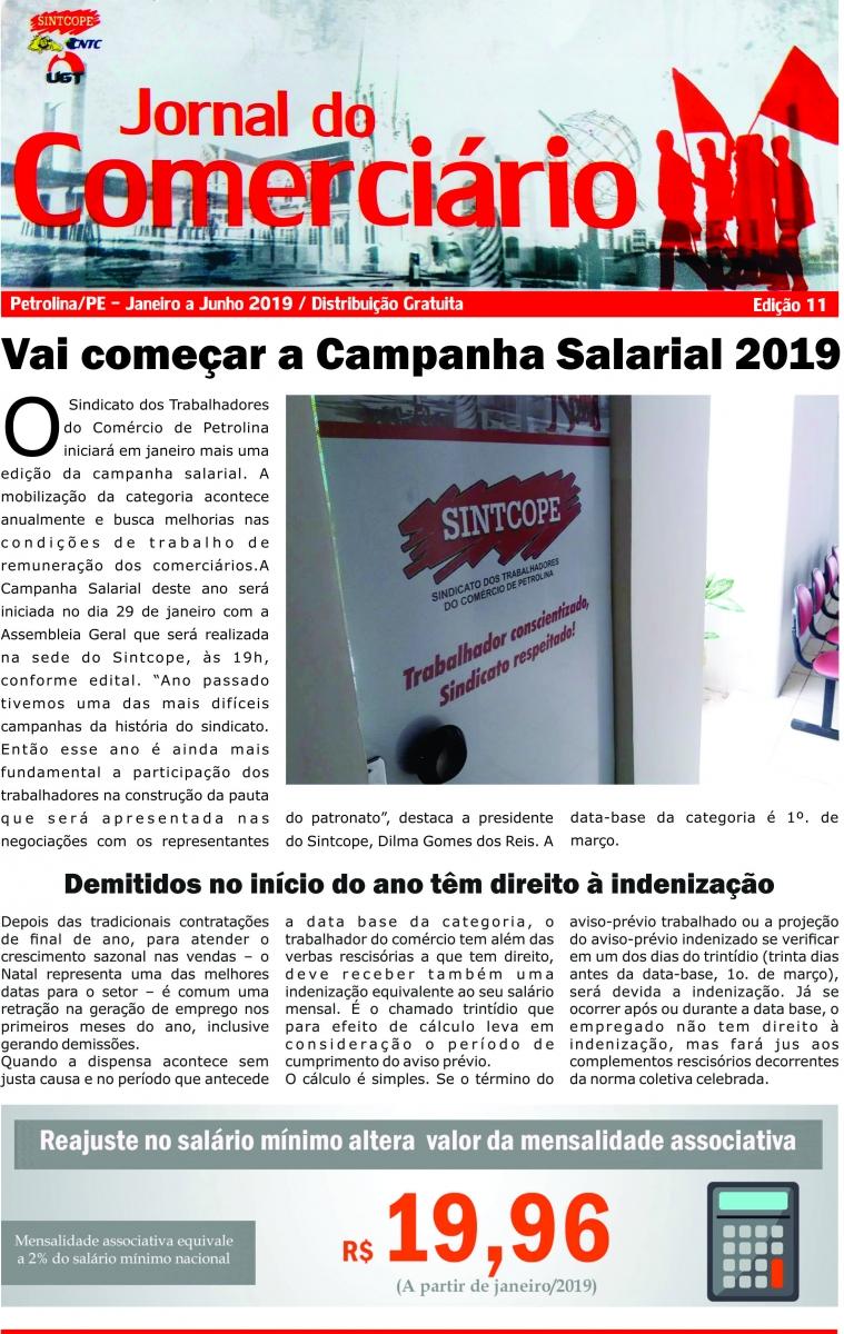 Foto do jornal Sintcope Jornal do Comerciário Ed. número 11