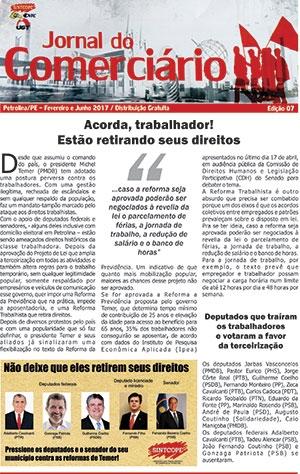 Foto do jornal Sintcope Jornal do Comerciário - Ed. no. 07