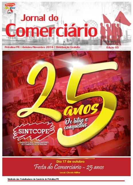 Foto do jornal Sintcope Jornal do Comerciário Edição 05
