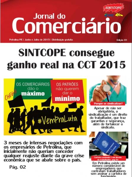Foto do jornal Sintcope Jornal do Comerciário - Edição Junho/Julho 2015