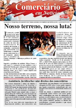 Foto do jornal Sintcope Jornal Trimestral - Julho/14