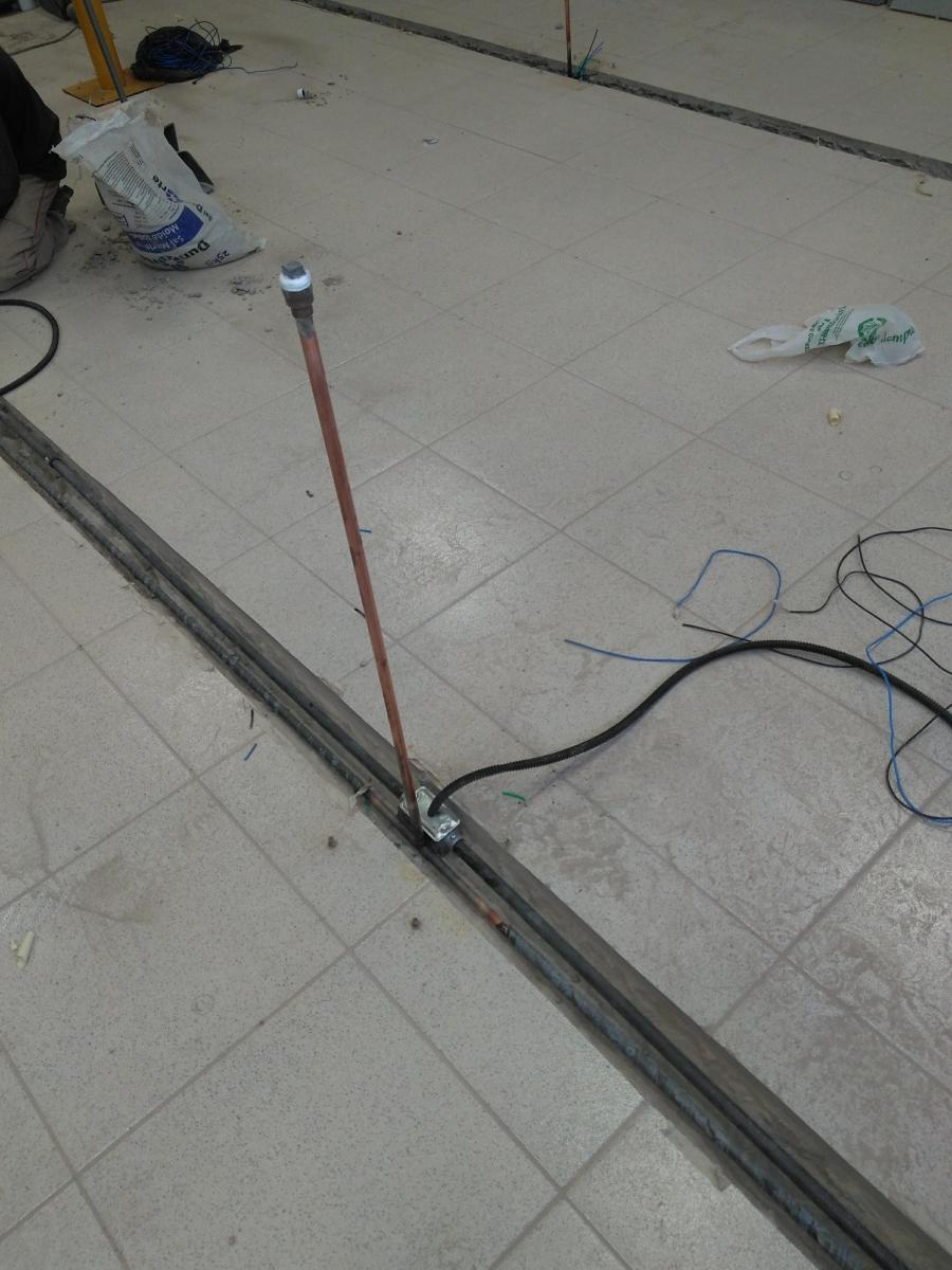 Instalação da nova rede de gás e elétrica