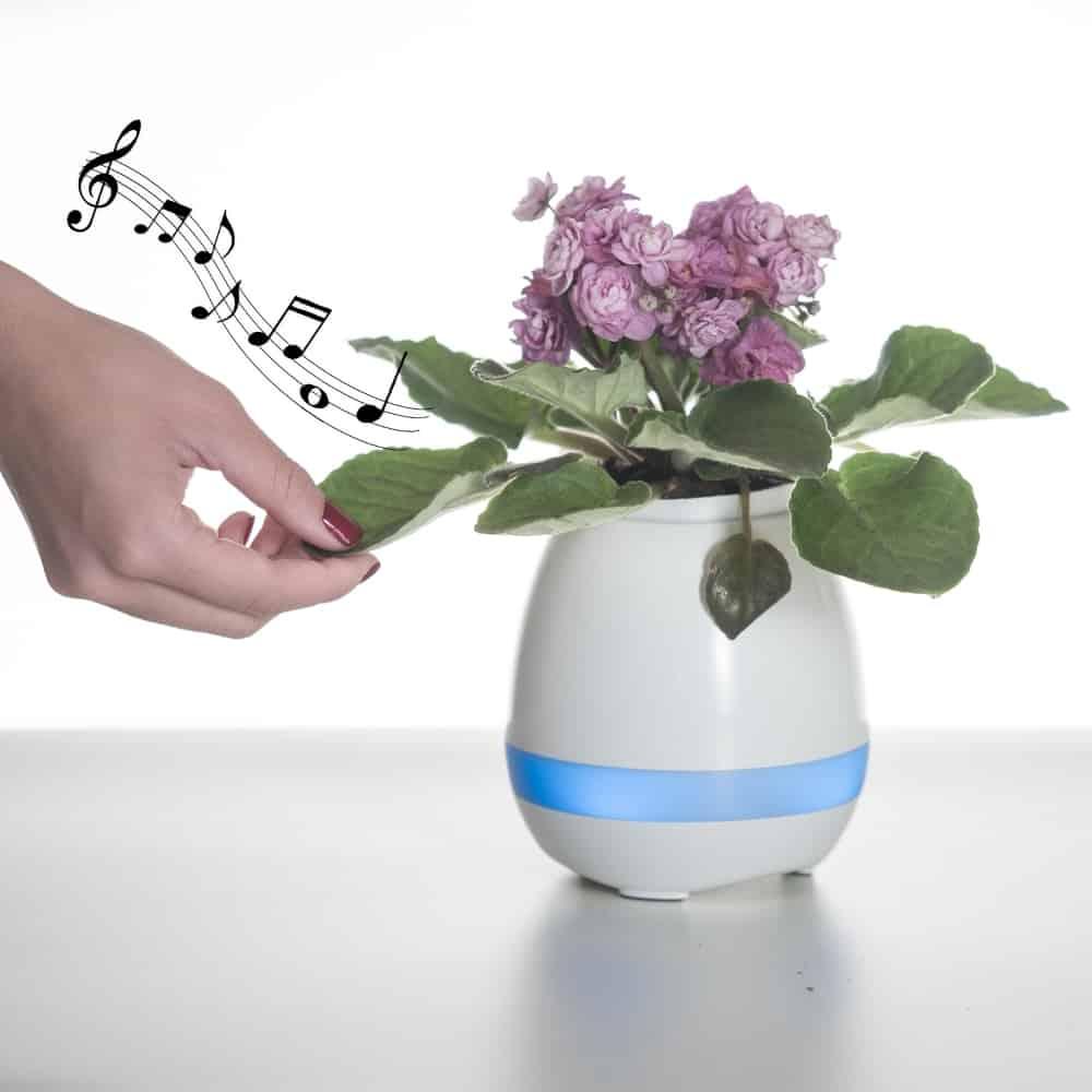 Caixa de Som Vaso com Sensor e Bluetooth - Foto 7