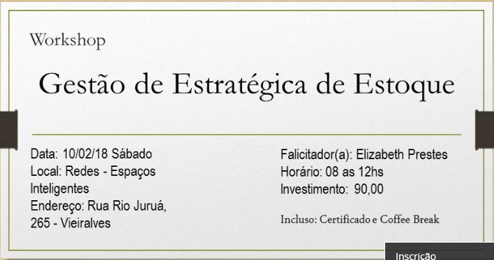 Workshop Gestão Estratégica de Estoque