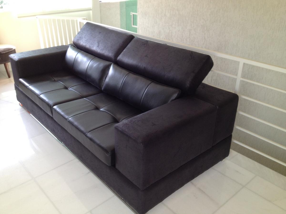 Sofá de 02 lugares com encosto reclinável