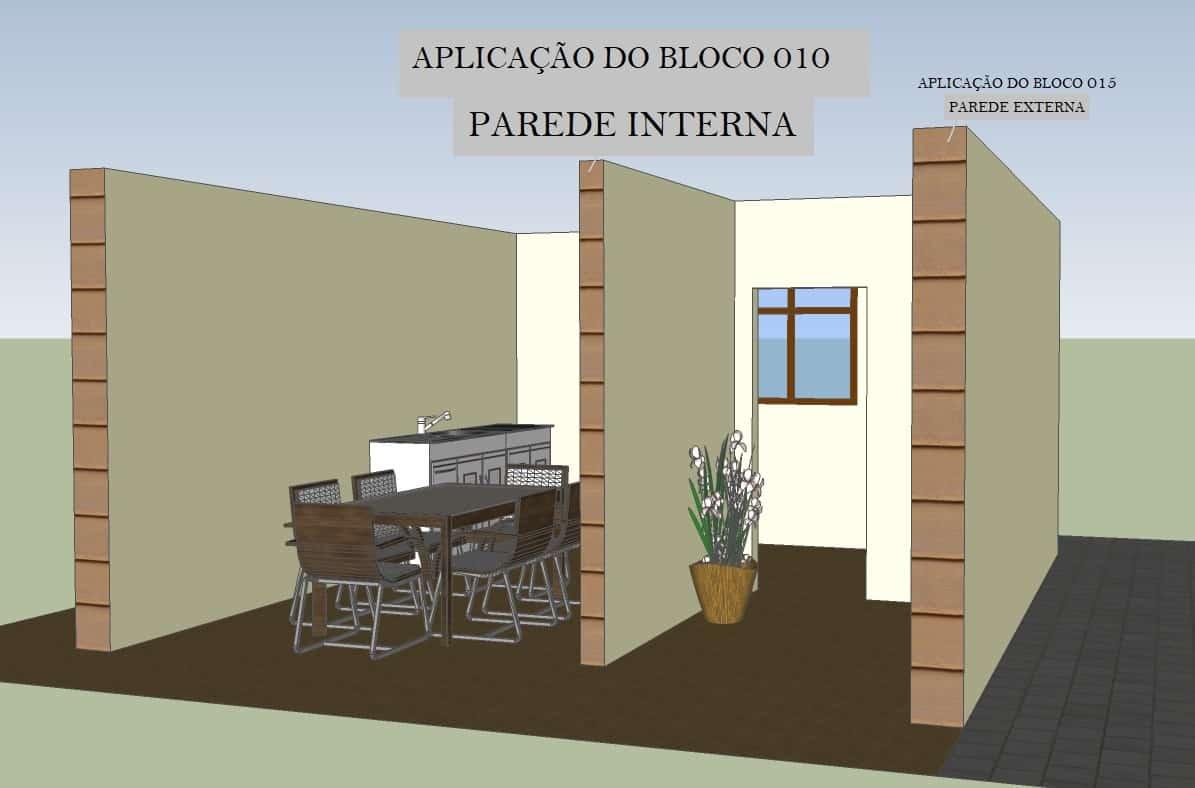 Bloco de Concreto 09x19x39 com fundo - Foto 2