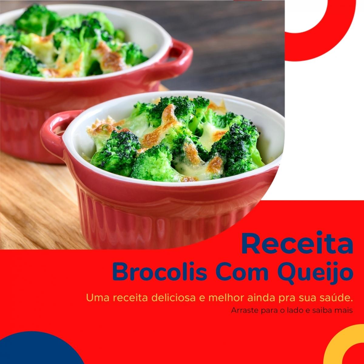 Receita - Brócolis com Queijo