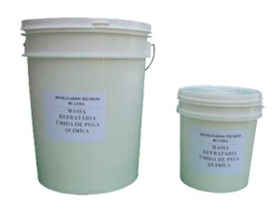 Massa refratária úmida de pega química - Foto 1