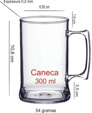 CANECA DE ACRÍLICO 300ML COD. 1083 - - Foto 1