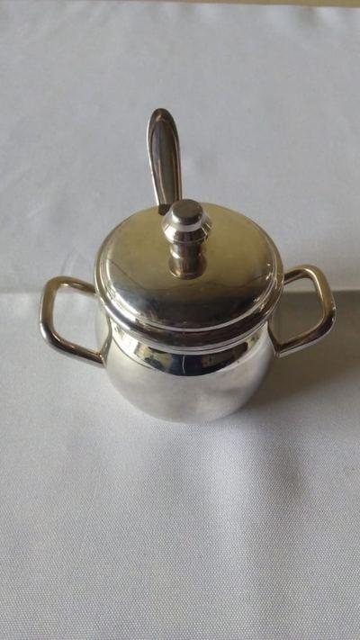 Açucareiro de prata 180ml - Foto 1