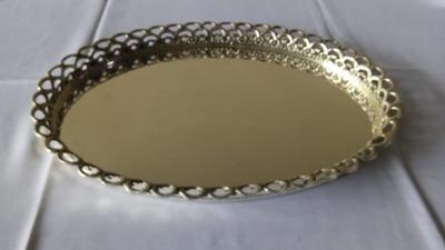 Bandeja de prata oval c/ grade 36x44 - Foto 1
