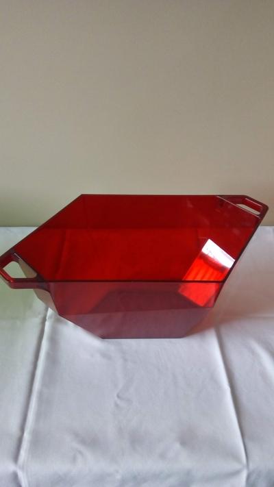 Cooler acrílico vermelho - Foto 1