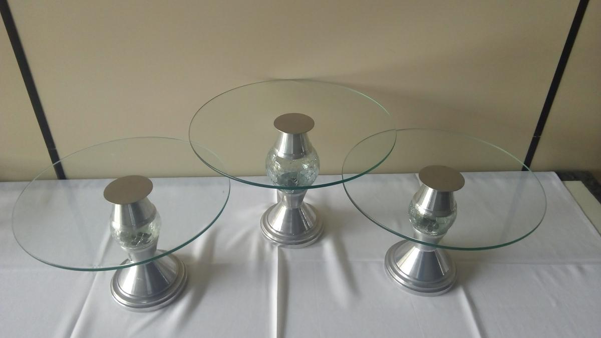 Kit de vidro 3 peças c/ pé alumínio - Foto 2