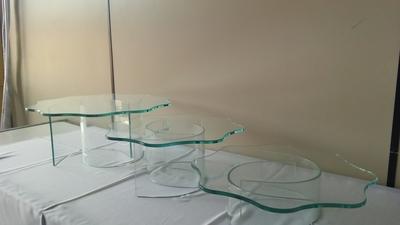 Kit de vidro 3 peças com base curva - Foto 1