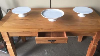 Mesa de madeira (Peroba) - Foto 1