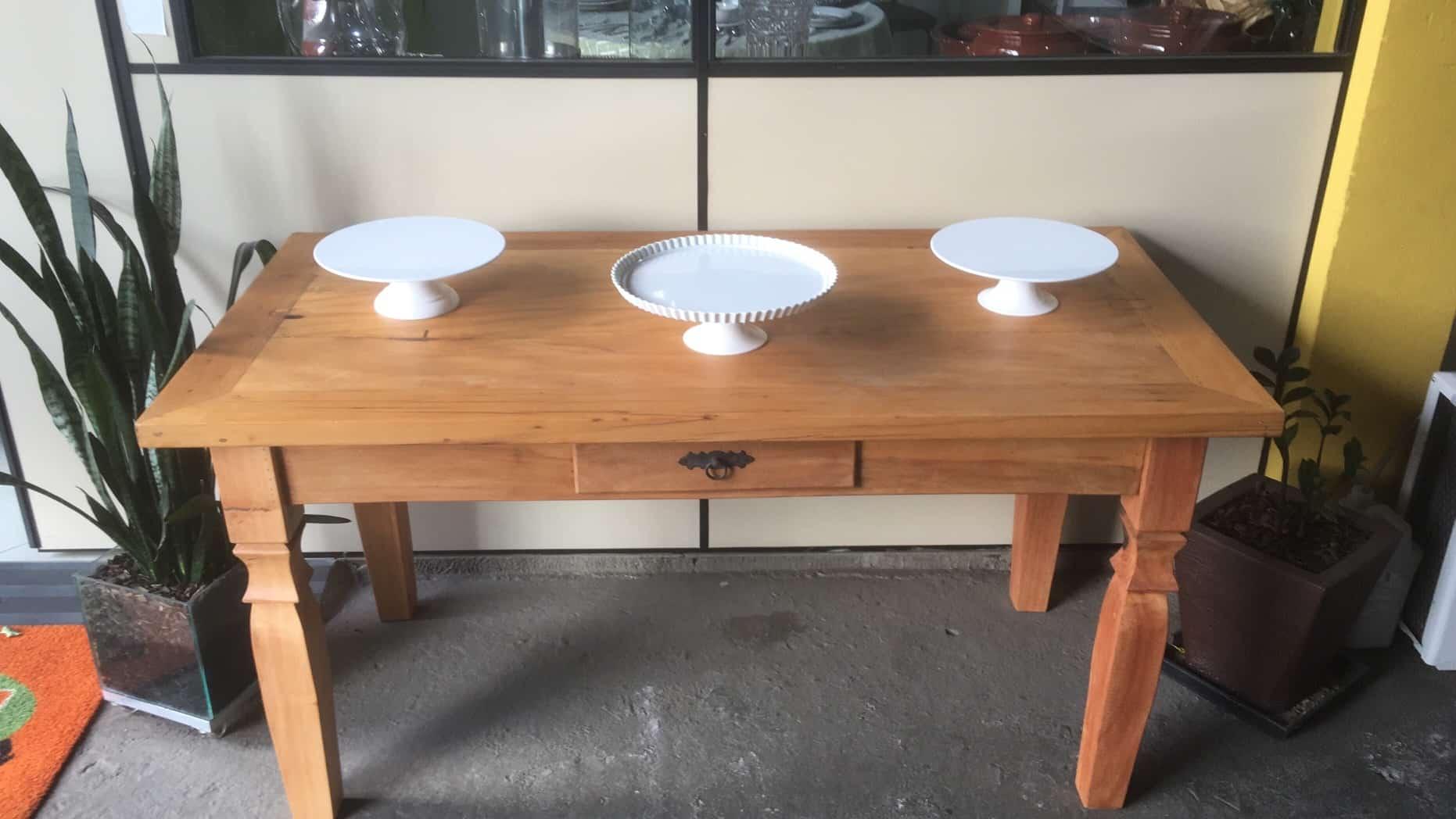 Mesa de madeira (Peroba) - Foto 2