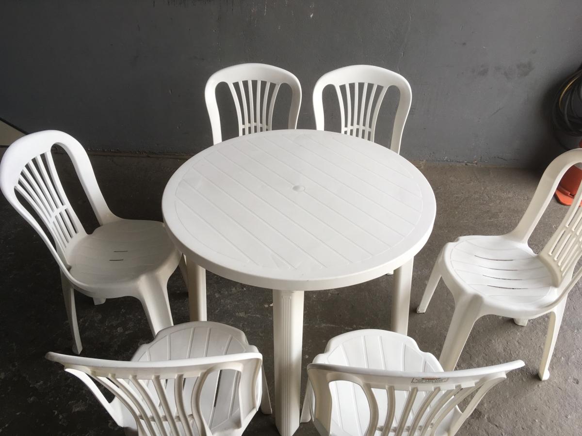 Mesa plástico redonda 90 cm - Foto 2