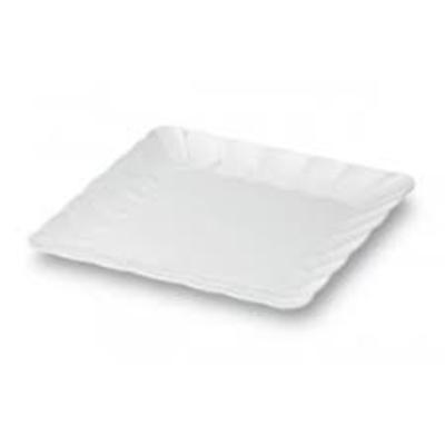 Prato branco quadrado melamina 43x43 cm - Foto 1