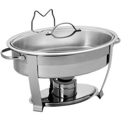 Rechaud oval banho-maria c/tampa de vidro 5 litros - Foto 1