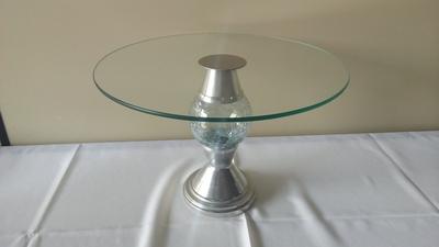 Suporte de vidro c/ pé alumínio (grande) - Foto 1