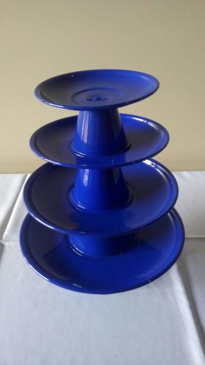 Suporte para doces 4 peças - Azul royal - Foto 1