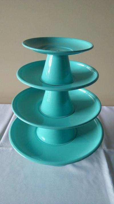 Suporte para doces 4 peças - Azul tiffany - Foto 1