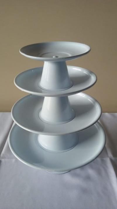 Suporte para doces 4 peças - Branco - Foto 1
