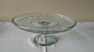 Suporte vidro redondo pé alto - Foto 1