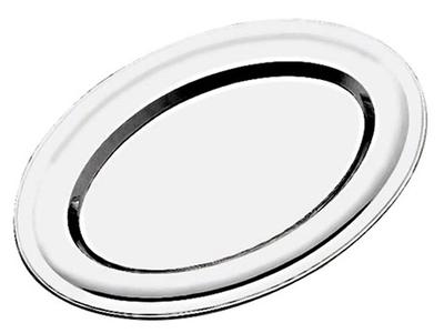 Travessa aço inox oval rasa 50 cm - Foto 1