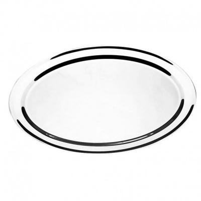 Travessa aço inox oval rasa 55 cm - Foto 1