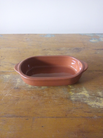 Travessa de cerâmica marrom 20cm - Foto 1