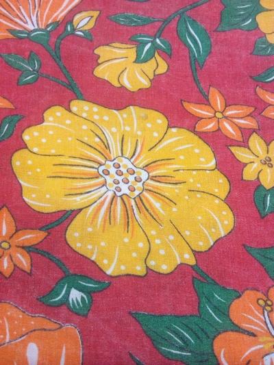 Xale de chita floral - Foto 1
