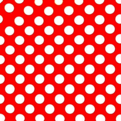 Xale vermelho c/ bolinha branca - Foto 1