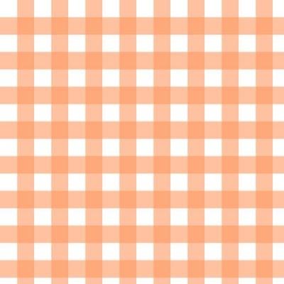 Xale xadrez laranja 1,5x1,5 - Foto 1