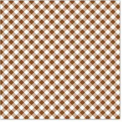 Xale xadrez marrom - Foto 1