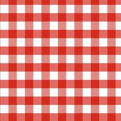 Xale xadrez vermelho 1,5x1,5 - Foto 1