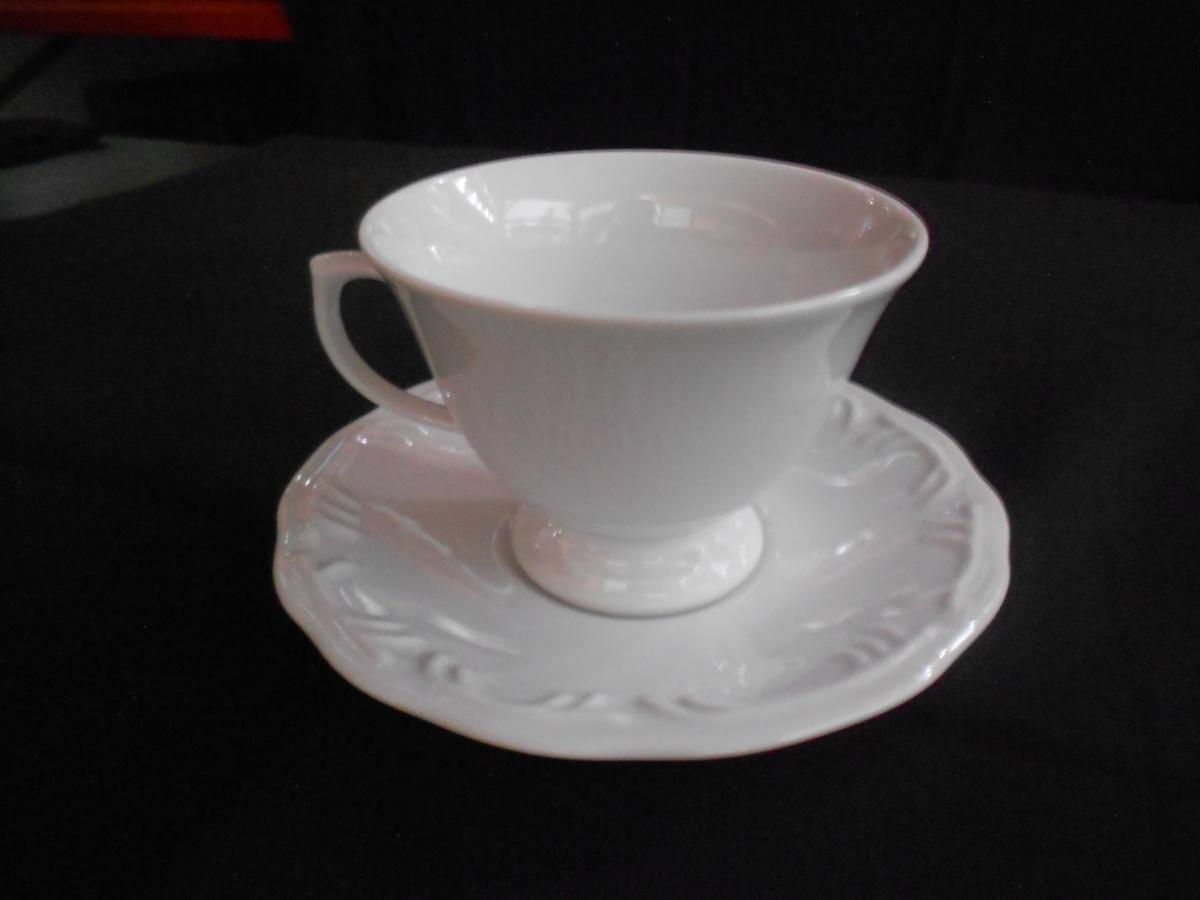 Xícara para chá c/ pires Pomerode Relevo - Foto 1