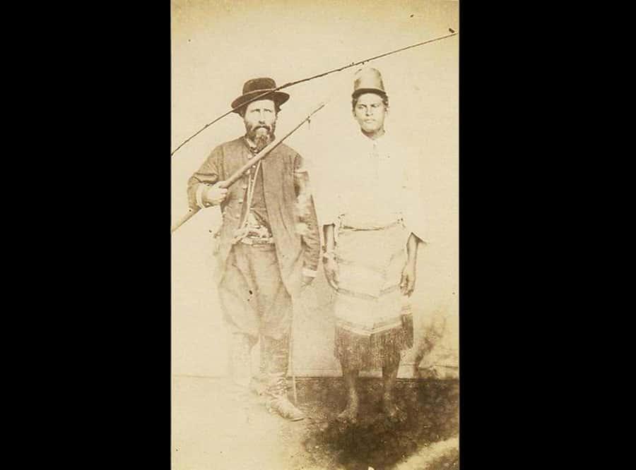 Oficial brasileiro e prisioneiro 1865