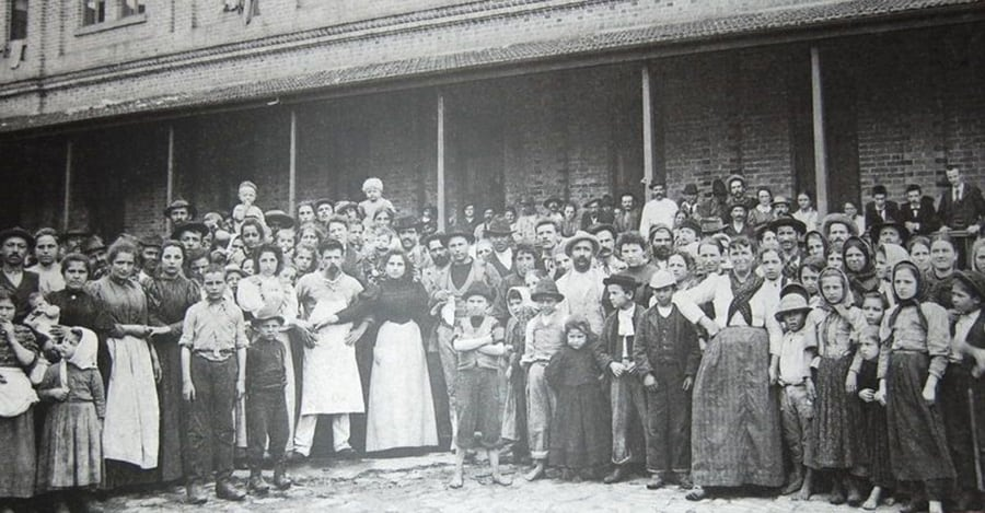 Imigrantes italianos recém- São Paulo 1890