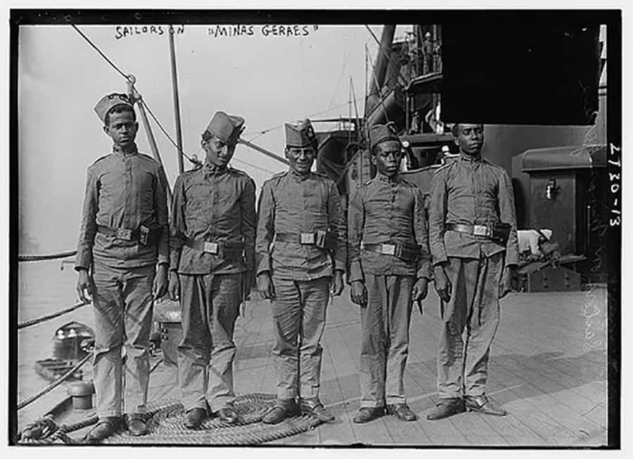 Marinheiros navio de guerra Minas Gerais 1910