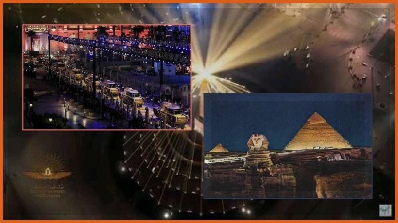 Cortejo completo da transferência das 22 múmias reais - Egito -
