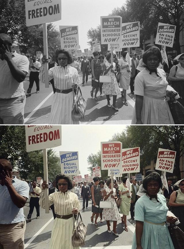 A marcha de Washington. 1963