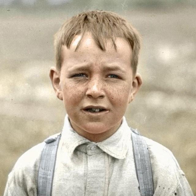 Criança trabalhadora Massachusetts. 1915