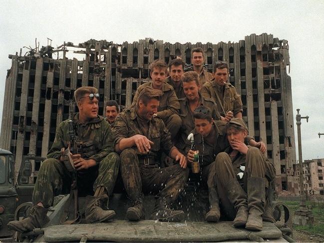 Soldados russos - Guerra Chechena - 1995