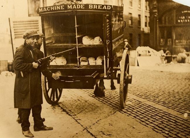 Entrega de pães Irlanda 1920