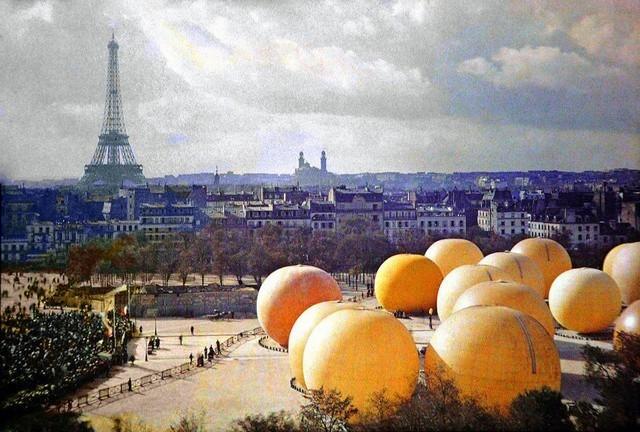 Laranjas gigantes em Paris, 1914