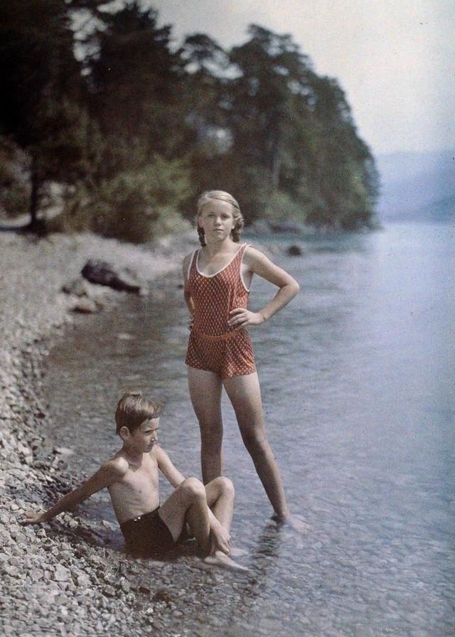Eva e Heinz no Lago dos Quatro Cantões, 1927